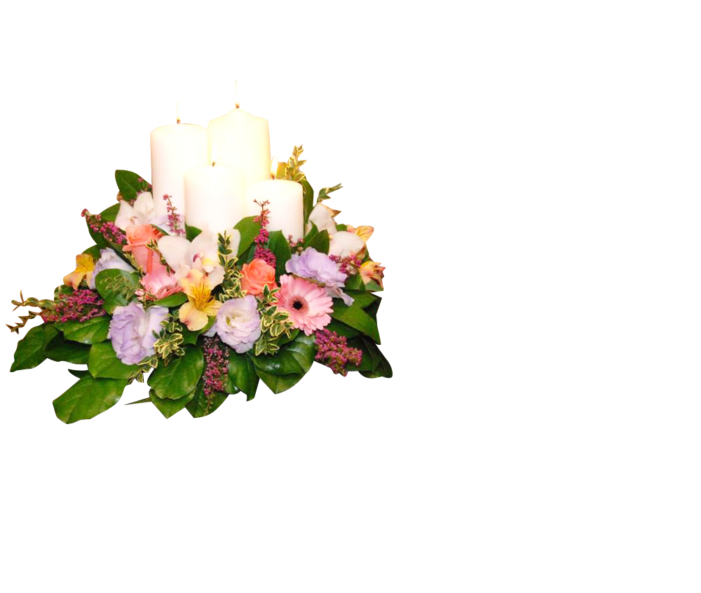 Memorial Arrangement Pillar Candle